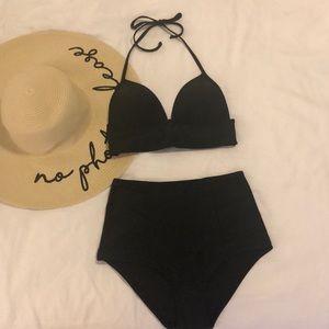 Aerie Black High Waisted Bikini Set NWT